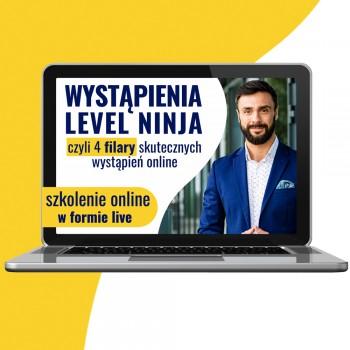 Kurs ONLINE Wystąpienia Level Ninja 13 marca 2021