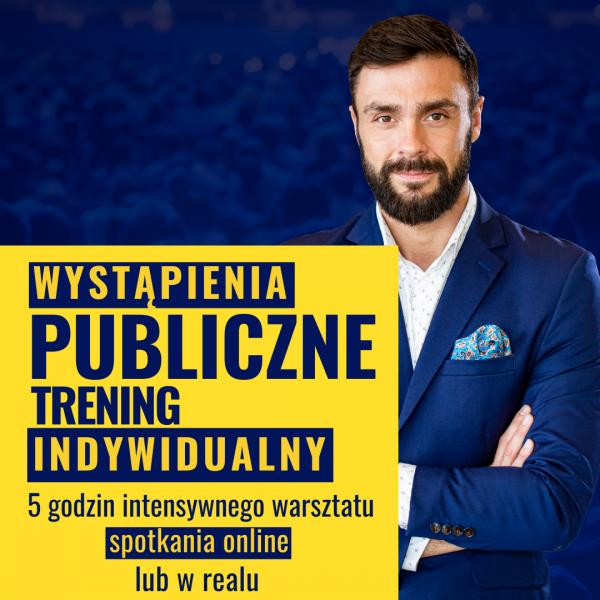 Wystąpienia publiczne ONLINE - trening indywidualny